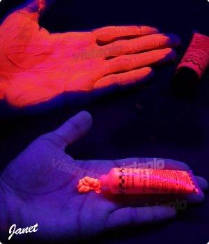 Creme UV fluorescents - ROUGE - Pour corps et cheveux - idéal pour vos soirées