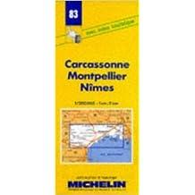 Carte routière : Carcassonne - Montpellier - Nîmes, 83, 1/200000 (Anglais) de Carte Michelin ( 7 mai 1980 )
