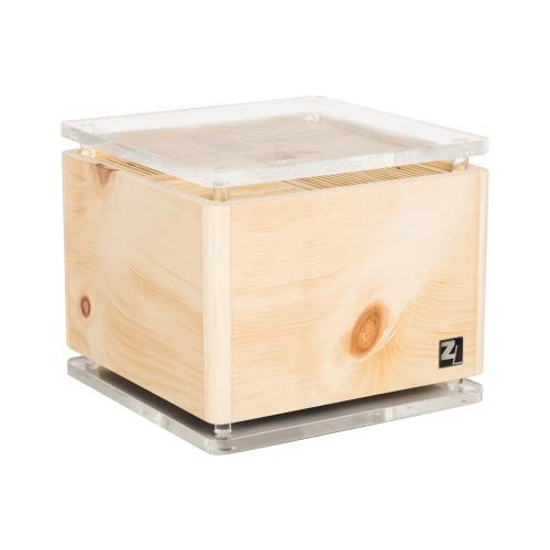 ZirbenLüfter ® CUBE rondo cristall für 40 m2, Luftbefeuchter und Luftreiniger