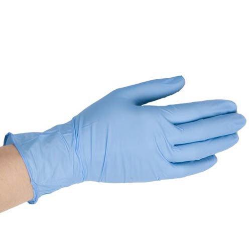 Gants jetables en vinyle bleu – Taille S