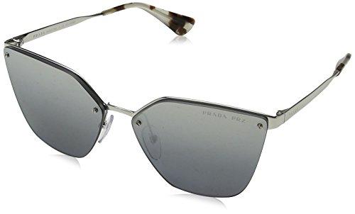 Prada Damen 0PR68TS 1BC2F2 63 Sonnenbrille, Silber (Silver/Grey Silverpolar),