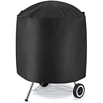 Osarke Barbecue Cover Round BBQ Cover Waterproof 420D Oxford Dust-proof//Anti-UV Grill Cover Heavy Duty Outdoor Garden Barbecue Cover 75X70 cm-Black