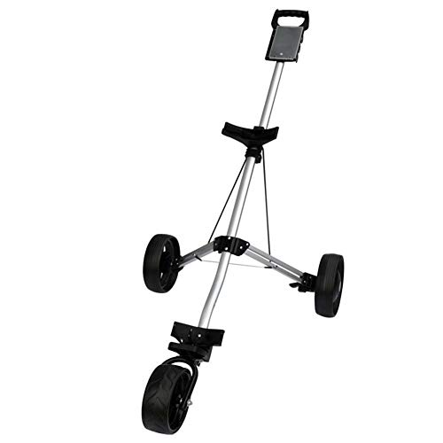V.JUST Golfwagen Golftrolley 3 Rad Herren Push/Pull Mens Compact Golf Cart