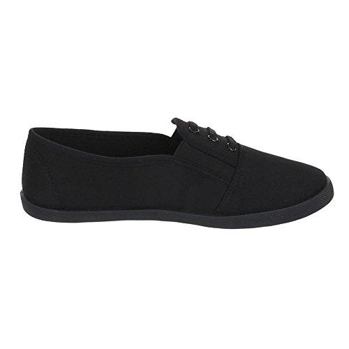 Chaussures de léger à enfiler pour femme, F 60, Richelieu Black - Black
