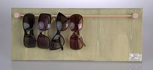 HappyBoard Brillenständer HOLZ grün für Sonnenbrillen & Lesebrillen
