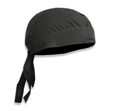 PURECITY© - Bandana militaire préformé US Army Foulard Couvre Tete Casquette Cap - Serrage ajustable - 100% Coton - Airsoft - Paintball - Moto - Biker - Outdoor, Noir Ouverture arriere, unique