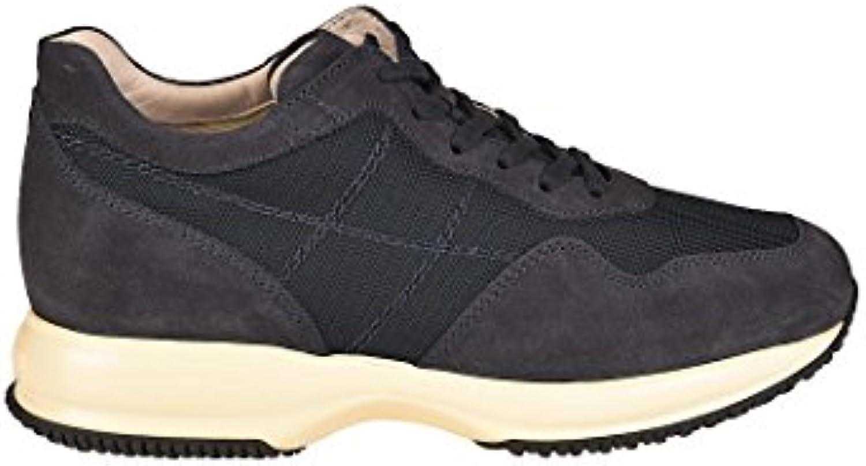 Hogan Herren HXM00N0AI40B2A28G3 Blau Wildleder Sneakers