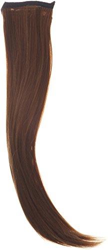 Biya pelo Elementos Thermatt instantánea lazo de la cinta de cola de caballo extensiones de cabello liso, marrón claro Número 8 de 20 pulgadas / 70g