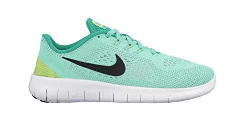 Nike Free Rn (Gs), Gymnastique fille Hyper Turq/Black-clear Jade-volt