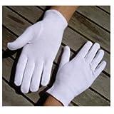 foopp Durable en uso Durable Servicio soft-hand guantes de algodón–Pack de 5pares