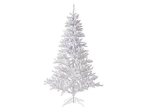 Künstlicher Weihnachtsbaum Tannenbaum mit Kunststoffständer, Material PVC, Klappsystem, weiss, 60cm