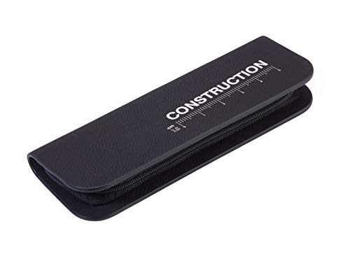 TROIKA CONSTRUCTION SET ZIRKEL - PEC70/BS - Set da penna multifunzione e compasso - righello centrimetri/pollici - scala 1: 20/1: 50 m - livella - TROIKA-originale