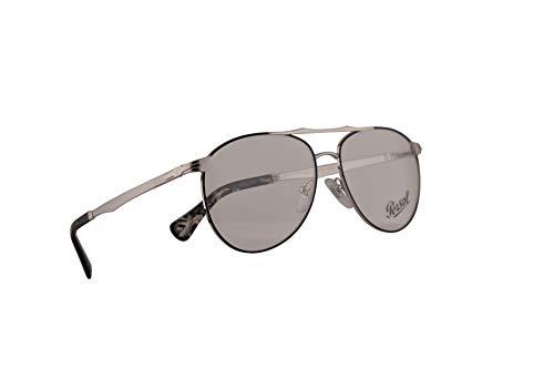 Persol 2453-V Brillen 54-14-145 Silber Schwarz Mit Demonstrationsgläsern 1074 PO 2453V PO2453V PO2453-V
