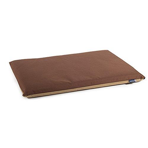 Ancol Wasserdicht flach Pad Bett für Hunde 76x 53Zentimeter braun/beige