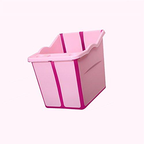 WENJUN Klapp-Badewanne Große Kinder Faltbare Badewanne Baby-Stuhl Badewanne Kind Faltende Kind Wanne ( Farbe : Pink , größe : 55*50*53cm...
