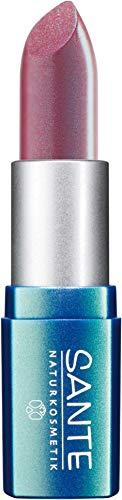 SANTE Naturkosmetik Lipstick No. 02 pink rose, Lippenstift, Transparente bis intensive Farben, Zart pflegend & sanft schützend, 4,5g - Pflegende Rose