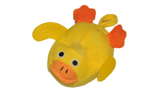 Badeschwamm / Plüschtier - Ente - Schwamm mit Stoff bezogen - Baby gelbe Badespielzeug für Kinder Stofftier (Ente Plüschtiere)