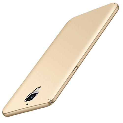 GOGODOG OnePlus 3 / 3T Hülle Vollständige Abdeckung Ultra dünn Matte Anti-Rutsch Kratzen Beständig für One Plus 3 / 3T (Gold)