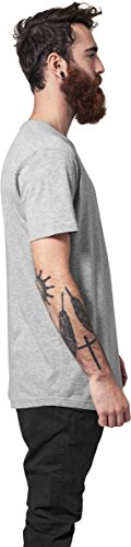 Urban Classics Herren T-Shirt Shaped Long Tee mit Rundhals Grau (grey 111)