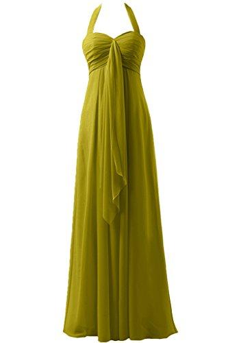 Sunvary a-line garza Empire della vita Halter d'onore abito da sera, da donna Verde oliva