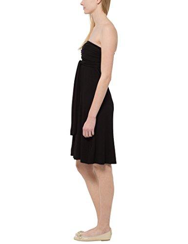 Berydale Damen Knielanges Multistyle Kleid mit 5 Tragevarianten Schwarz ...