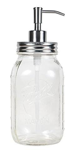 Jarmazing Products quart Taille Mason Jar Distributeur de savon et de lotion?par?fabriqué à partir de en acier