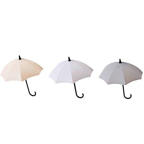 FeiliandaJJ 3PCS Niedlich Regenschirm Haken Selbstklebend Tür Wandhaken Garderoben Handtuchhalter Küchenhaken für Badezimmer, Küche, Kleiderschrank (A)