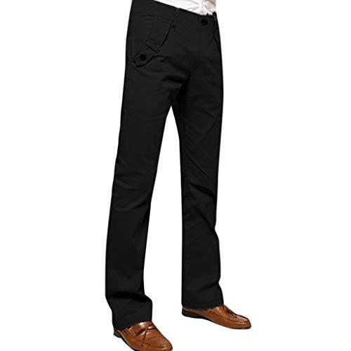 Zonary Herren Freizeithose Freizeit-Baggyhose Hose Leicht Casual Normale Sitz-Normallack Hosen der Art- und Weisemänner beiläufige Hosen-Arbeitshosen (Schwarz)