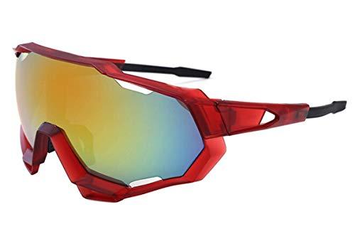 Adisaer Radbrille Herren Sonnenbrillen Herren Radfahren Brillen Bunte Sonnenbrillen Outdoor Brillen Fahrrad Winddicht Red Damen Herren