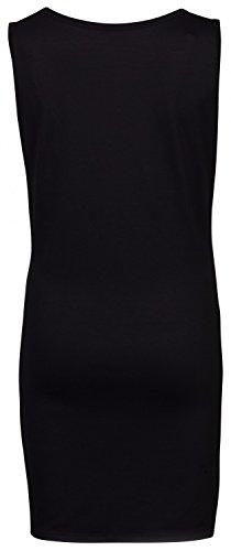Happy Mama Maternité. Femme Robe tunique Tee shirt grossesse à imprimé. 900p Noir