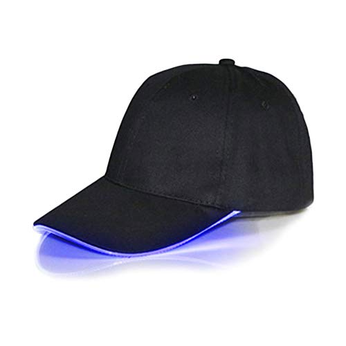ED-Beleuchtung, leuchtend, für Sport, Sport, Reisen, Hip-Hop, Sport, Blitz, 1 Stück 1 Black Cap Blue Light ()