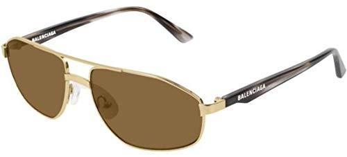 Balenciaga Sonnenbrillen BB0012S Gold/Brown Unisex