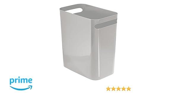 Mdesign bidone spazzatura con manici ideale come cestino