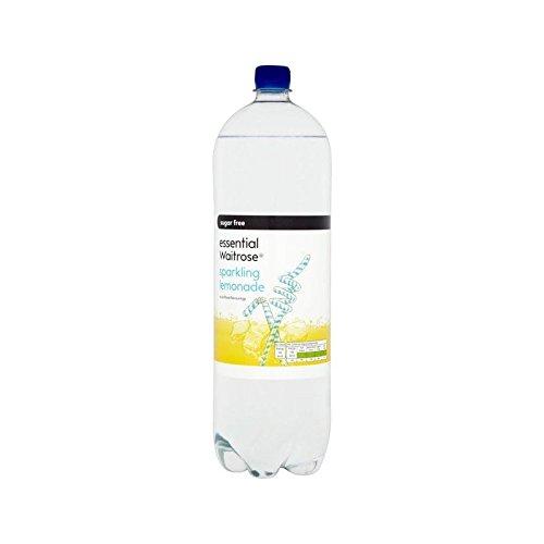 Faible En Calories Limonade Pétillante Waitrose Essentielle 2L (Paquet de 2)
