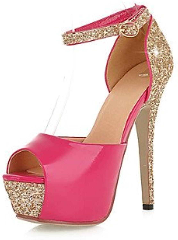 YFF Donna Sandali PU abito sintetico Stiletto Heel Sequin,Peach,US7.5   EU38   UK5.5   CN38 | Elevata Sicurezza  | Uomini/Donna Scarpa