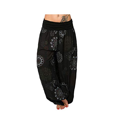 Spring Summer Boho Pants for Women Printed Capris Pants Female 2019 High Waist Trousers Ladies Casual Loose Home Pants Color 9 XXL -
