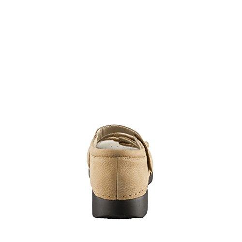 Propet Ortho Walker Elite Large Cuir Chaussure de Marche Kaki
