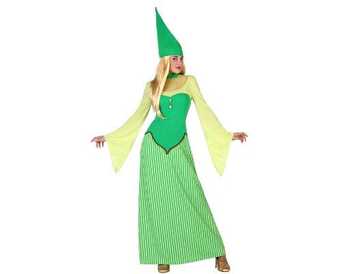 Atosa 22897 - Costume di carnevale, da donna, soggetto: folletto, taglia XL, verde.