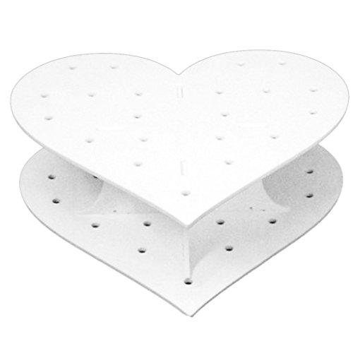 Acryl HerzGeformt 15 Löcher Lollipop Halter Kuchen Pop Anzeige Ständer 1 Set Kuchen Acryl-ständer