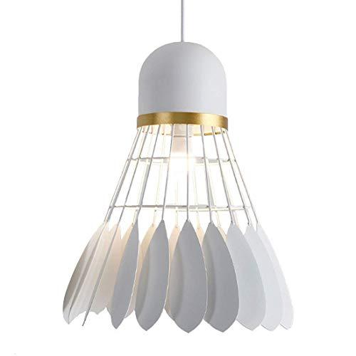 Moderne Esstisch Pendelleuchte, Badminton Form Hängende Deckenleuchter Lampe Leuchten Für Kinderzimmer Restaurants Dekoration Kunst (Color : White)
