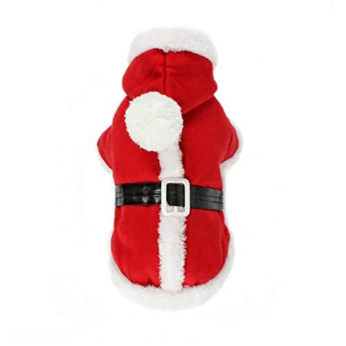 Weihnachtsmann Hunde Kostüm Xxl - KayMayn Haustier-Sport-Kapuzenpullover für Hunde und Katzen, Weihnachtsmann-Kostüm, Kapuzenpullover, Größe S bis XXL