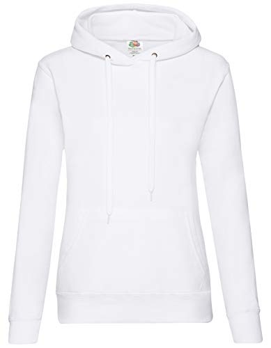 Fruit of the Loom Classic Hooded Sweat Lady-Fit - Farbe: White - Größe: XS
