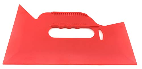 Tapeten-Andrückspachtel m.Griff - Tapezierspachtel - Andrückspachtel - Trapezspachtel - Tapetenglätter - Tapetenspachtel - Malerzubehör - Malerbedarf - Tapezieren - Renovieren - rot - 255mm x 150mm