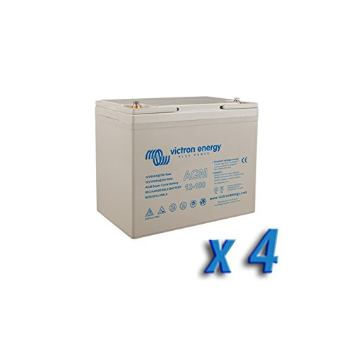 Set 4 x Batterie 100Ah 12V AGM Super Cycle Victron Energy Photovoltaik Nautisch