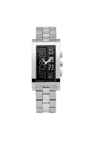 Just Cavalli 'Jc Jumbo' Men's Analog and Digital Quartz Watch with Steel Bracelet
