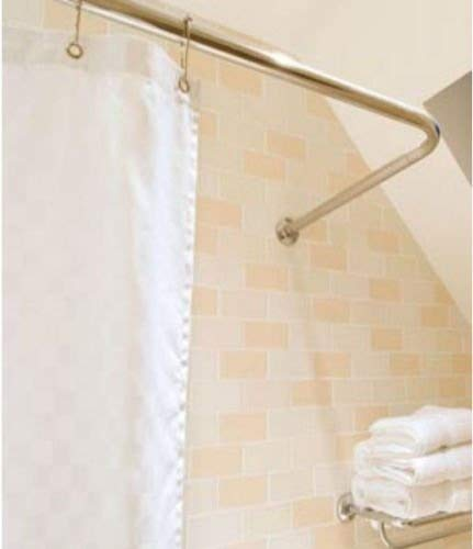 BC NON RUST CHROME ADJUSTABLE 4 WAY U L SHAPE CORNER SHOWER CURTAIN POLE RAIL by Blue Canyon