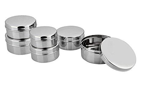 King International Stainless Steel Mini, Small Storage Box set of 6 Pieces, O...