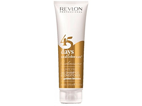 Revlon Professional Revlonissimo 45 Days Golden Blondes 2 in 1 Shampoo & Conditioner, 1er Pack (1 x 275 ml) (2in 1 Shampoo Plus Conditioner)