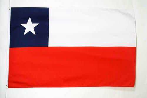 BANDERA de CHILE 150x90cm - BANDERA CHILENA 90 x 150 cm - AZ FLAG