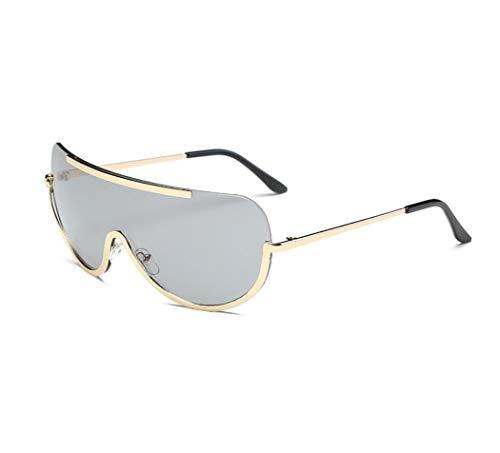 WYJW Sonnenbrillen Europäische und amerikanische Brillen mit großem Gestell Siamese Brillen Modetrend Marine Film Sonnenbrillen
